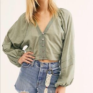 NWT Free People One Fine Day Blouse
